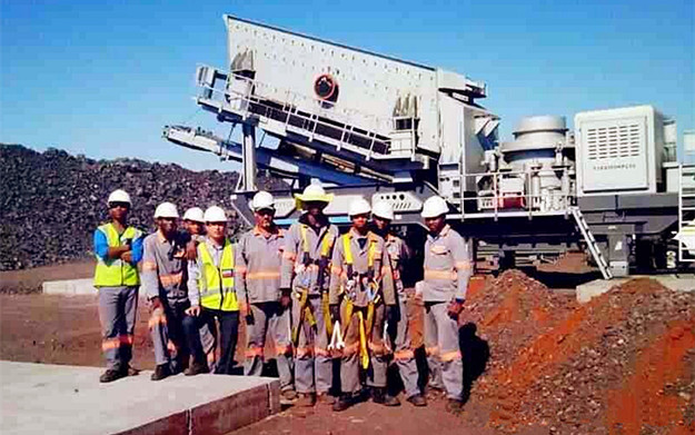 South Africa 200 ton manganese ore mobile mining plant