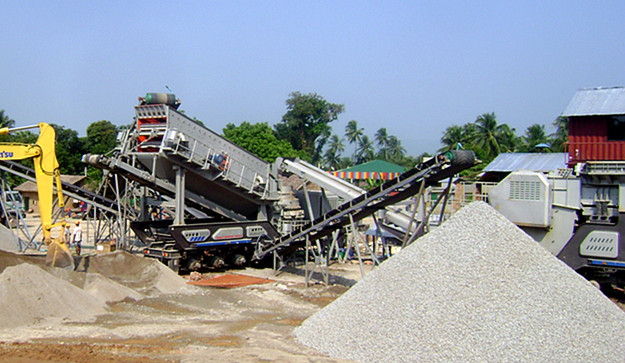 Algeria Marble Mobile Crushing Plant 150-200 ton hour
